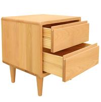 Aurora Natural Solid Oak Bedside Table
