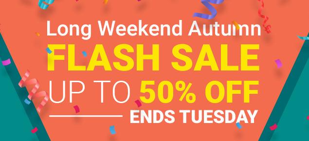 Autumn Flash Sale - ENDS Tuesday!