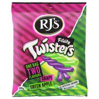 RJ'S Fruity Twisters - Grape & Green Apple (180g)