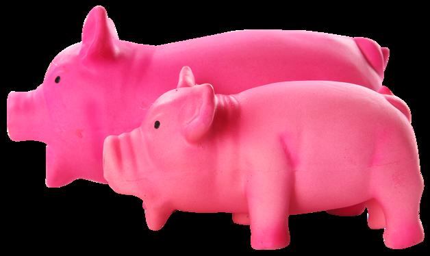 Pawise - Pink Latex Pig - Large