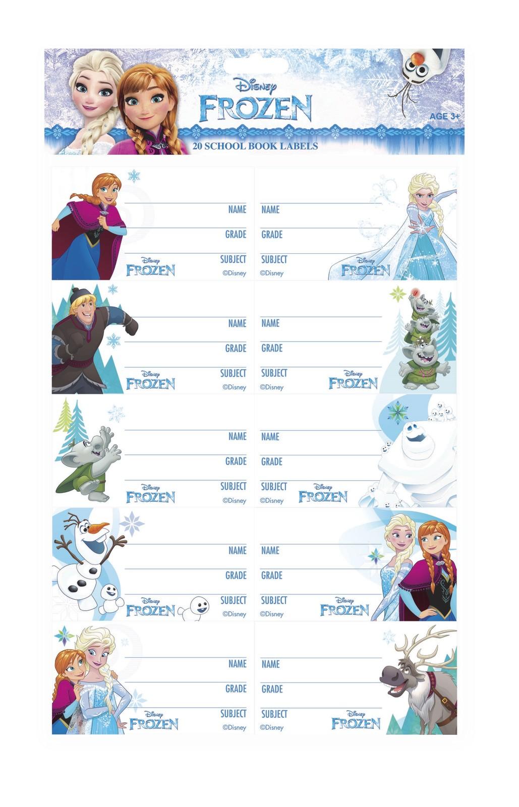 Disney Frozen Book Labels image