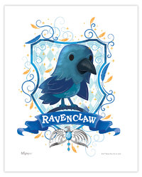 Harry Potter (Ravenclaw Watercolor) MightyPrint Wall Art