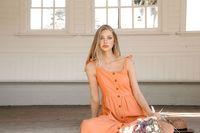 Midsummer Star: Clementine Dress - Large (Coral) image