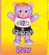 Doodle Bear Velvet Art - Drew