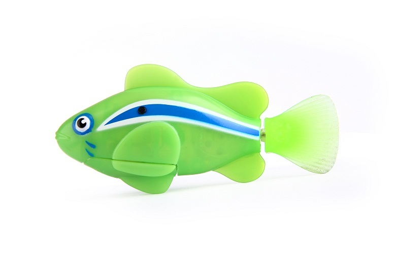 Zuru robo fish green clown fish at mighty ape nz for Zuru robo fish