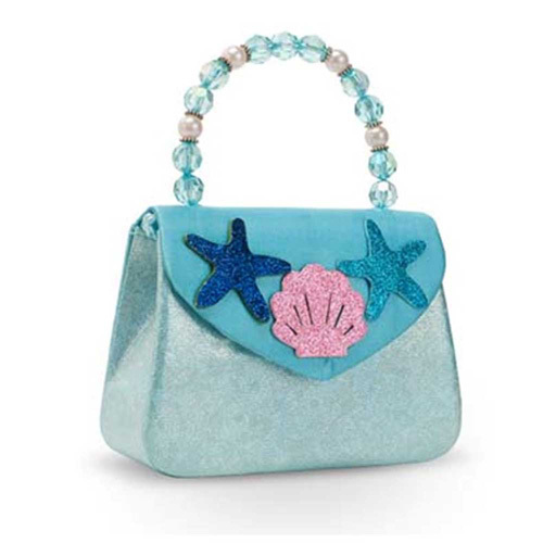 Pink Poppy: Under the Sea Mermaid Hard Handbag - (Blue)