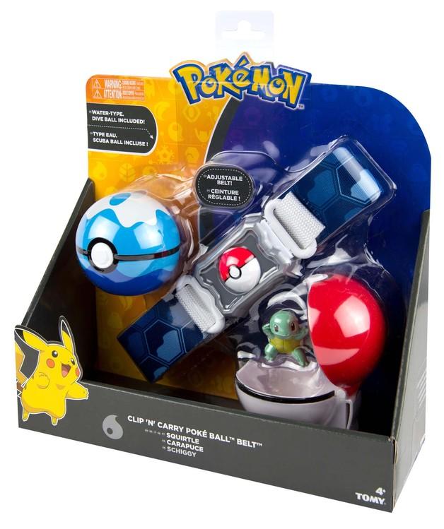 Pokémon: Poke Ball Belt (Water) - Clip N Carry Set
