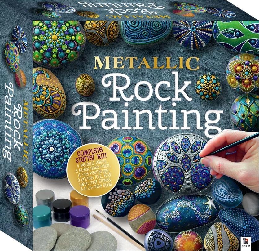 Hinkler: Metallic Rock Painting - Craft Box image