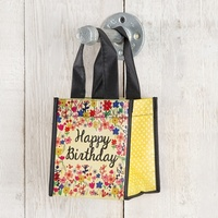 Natural Life: Recycled Gift Bag - Happy Birthday (Small)