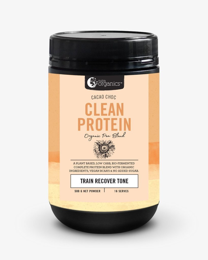 Nutra Organics Clean Protein Powder - Cacao Chocolate (500g) image