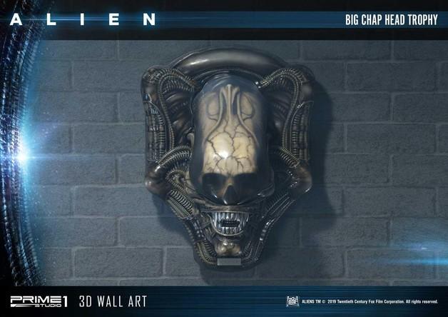 "Alien: Big Chap Head Trophy - 23"" 3D Wall Art"