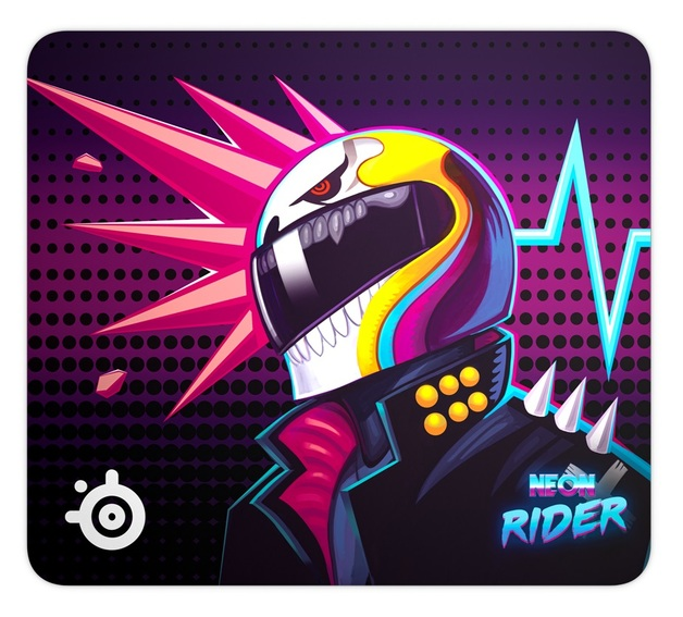 SteelSeries Qck Mouse pad - Neon Rider Edition (Large) for PC