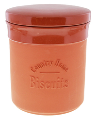 Terracotta Biscuit Canister