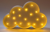 LED Cloud Wall Decoration - White