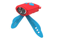 Mini Hornit Electronic Bike Bell & Light (Red/Blue)