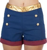 DC Comics: Wonder Woman - High Waisted Shorts (Large)