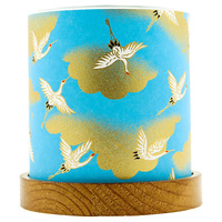 Short Story: Mini Glass Lantern - Blue Cranes