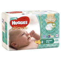 Huggies Ultimate Nappies - Infant 4-8kg (24)