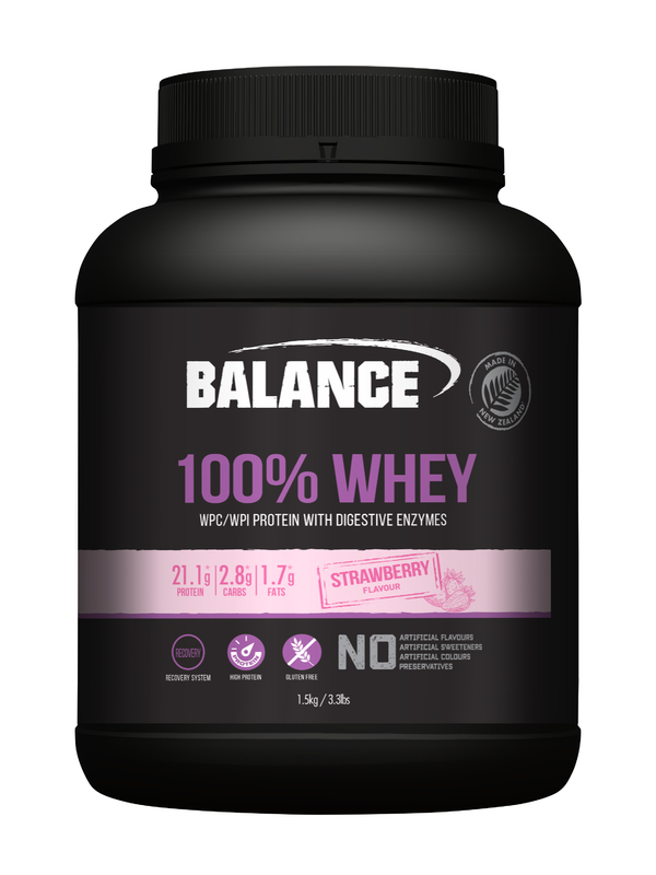 Balance: 100% Whey - Strawberry (1.5kg)