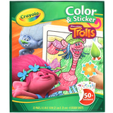 Crayola: Colour & Sticker Book – Trolls