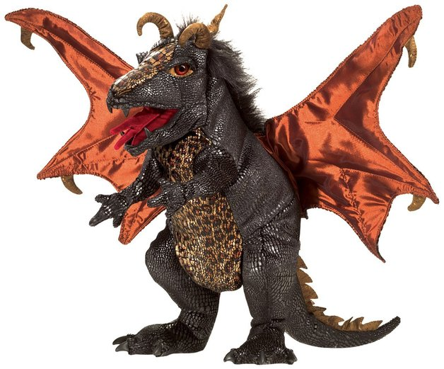 Folkmanis Hand Puppet - Black Dragon