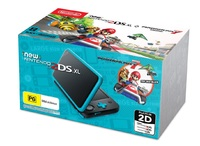 New Nintendo 2DS XL with Mario Kart 7 - Black/Turquoise for 3DS image