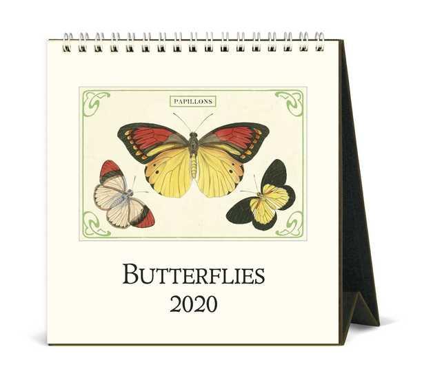 Cavallini Vintage Butterflies 2020 Desk Calendar