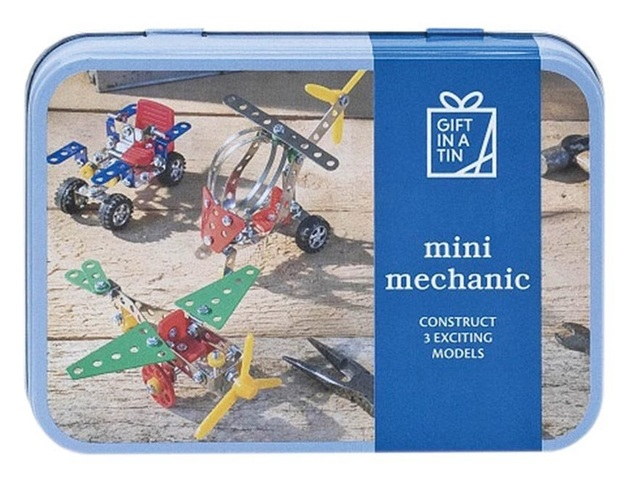 Apples To Pears: Mini Mechanic in a Tin - Metal Construction Kit