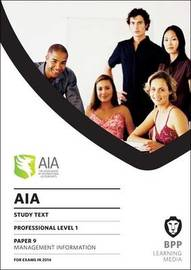 AIA 9 Management Information: Study Text by BPP Learning Media image