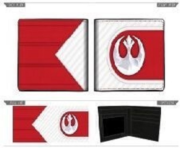 Star Wars Episode 8 Bi-Fold Wallet Rebel Checkered