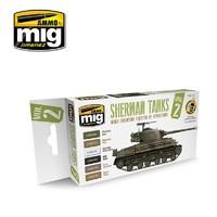 Ammo of Mig Jimenez: Europe Theater Sherman Tanks Colour Set