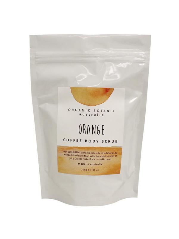 Organik Botanik Splotch Coffee Body Scrub - Orange (200g)