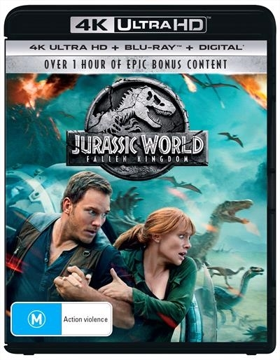 Jurassic World: Fallen Kingdom on UHD Blu-ray, DC