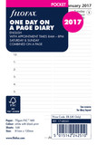 Filofax Pocket Refill: Day Per Page - Appointments (English 2017)