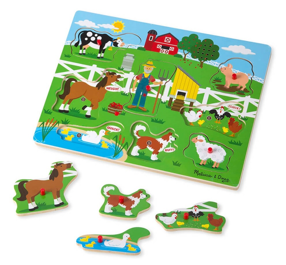 Melissa & Doug: Old MacDonald's Farm - Sound Puzzle image