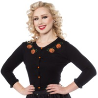 Sourpuss: Pumpkin Queen Cardigan - (Large)