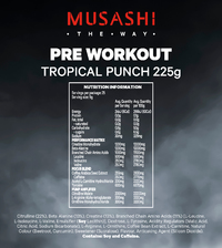 Musashi Pre-Workout - Tropical Punch (225g) image