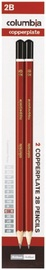 Columbia Copperplate Lead Hexagonal 2B Pencil Pkt2