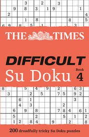 The Times Difficult Su Doku Book 4 by Puzzler Media