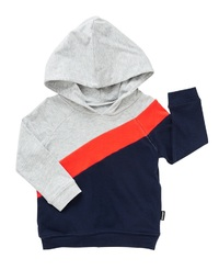 Bonds New Era Splice Hoodie - Slay Red/Deep Arctic (12-18 Months)