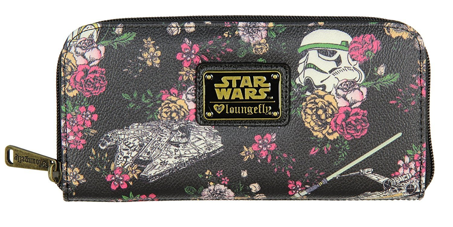 Loungefly Star Wars Stormtrooper Floral Zip Around Wallet image