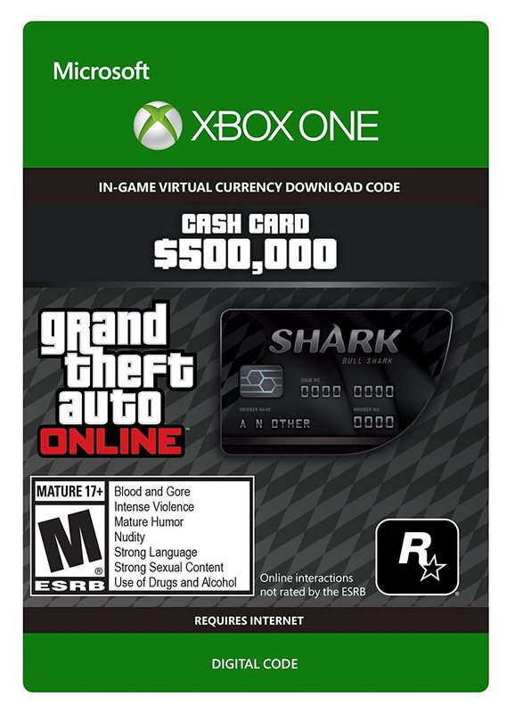 Grand Theft Auto V: Bull Shark Cash Card for Xbox One (Digital Code) for Xbox One