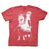 Naruto Shippuden Naruto and Sasuke Outline Red T-Shirt (Small)