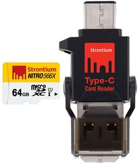 64GB Strontium NITRO MicroSD with C Type Connector