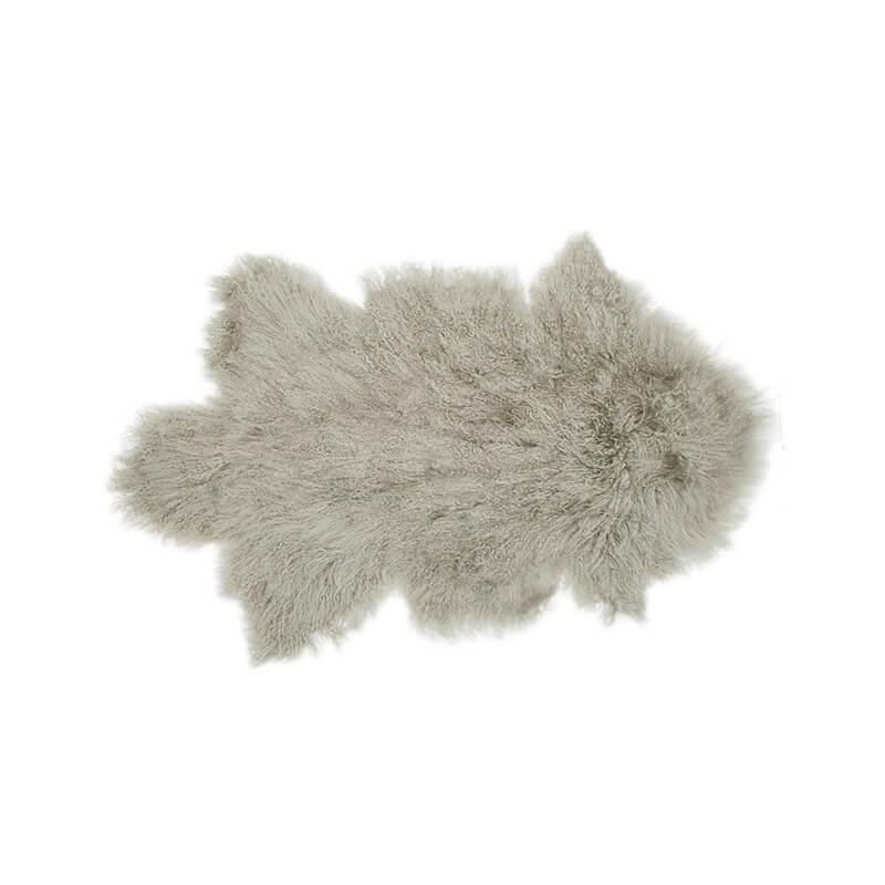 Bambury Mongolian Lambswool Rug (Grey) image