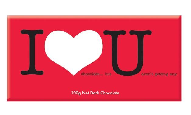 Bellaberry I Love You - Dark Chocolate (100g)