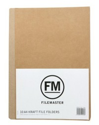 FM A4 File Folder - Pack 10 (Kraft)