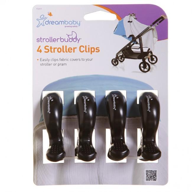 Strollerbuddy® Stroller Clips - Black (4 Pack) image
