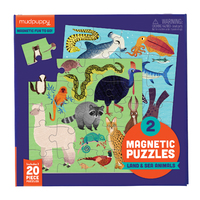 Mudpuppy: Land & Sea Animals - Magnetics Puzzle