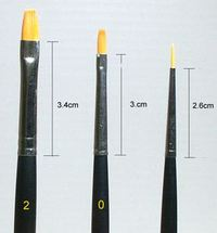 Tamiya 3 Piece Fine Brush Set